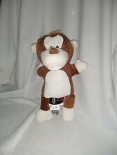 "12"" cute soft aldi stores ltd little town monkey open mouth plush hand puppet"