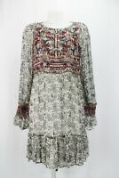 Anthropologie Black and Cream print Boho Dress UK14 / US10 / EU42