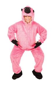 Pink Fluffy Gorilla Fancy Dress All In One Costume Monkey Stag Halloween Hen Ape