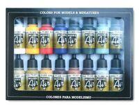 AV Vallejo Basic Colours Acrylic Paint Set For Models