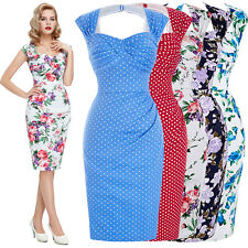 PLUS Vintage 40s 1950s Dress Fifties Retro Women Ladies Pinup Swing Wiggle Prom
