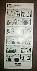 VTG 7-21-1986 DICK TRACY TRIBUNE MEDIA SERVICES PROMO B/W DAILY NEWSPAPER STRIPS