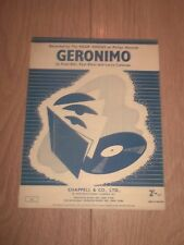 "THE FOUR VOICES "" GERONIMO "" ORIGINAL SHEET MUSIC EXCELLENT"