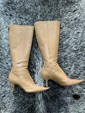 Jimmy Choo Nude Kitten Heel Boots Size 36