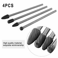 4pcs Cemented Carbide 150-160mm Rotary Point Burr Die Grinder 6mm Shank Bit Set