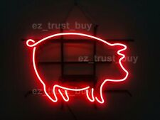 "New Bbq Pig Shop Open Neon Sign 24"" Light Lamp Bar Pub Poster Holiday Gift"