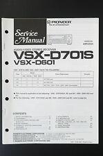 PIONEER VSX-D701S VSX-D601 Original Service-Manual/Anleitung/Schaltplan! o23