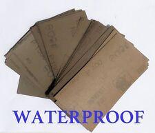 "WATERPROOF SANDPAPER 14 pc. 3"" X 5 1/2"" 400/600/800/1000/1200/1500/2000 Grit"