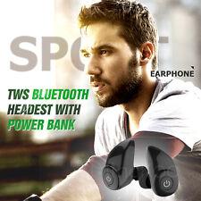 Wireless Sport Bluetooth Earphone Headphone Stereo Bass MIC Headset Power Bank