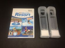 Nintendo Wii Sports Resort Game Bundle with 2 motion Plus and 2 sleeves.