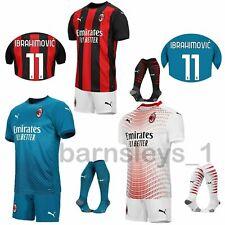 20/21 AC Milan Club Kids Football Full Kits Adults Soccer Jersey Training Suits