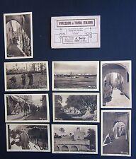 IMPRESSIONI DI TRIPOLI ITALIANA Giuesppe Ratti J. set 9 cartoline con custodia