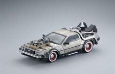 Modellini statici auto metallo bianchi delorean