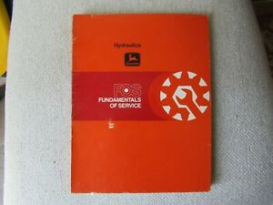 1979 John Deere tractor hydraulics fundamentals of service FOS manual