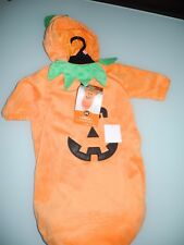 NWT HYDE AND EEK INFANT PUMPKIN COSTUME SOFT BUNTING ORANGE 0-6 MONTHS NEW