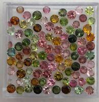 Natural Tourmaline Round Cut Loose Gemstone Lot 100 Pcs 2.50 MM
