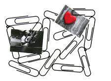 Metall Bilderrahmen Büroklammer - schwarz - Foto Rahmen Multi Halter Klammer