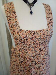 1970s David Silverman Maxi Dress - Ditsy Vintage Festival Hippy 10 Small