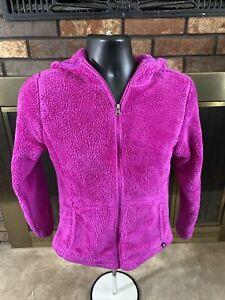 Champion Pink Full Zip Plush Sherpa Fleece Hooded Sweatshirt Womens Size Medium