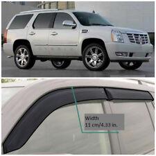 CE10407 Window Visors Guard Vent Wide Deflectors For Cadillac Escalade 2007-2014