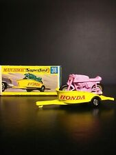 Matchbox Lesney RARE PINK  #38 Motorcyle and Trailer In Original Box