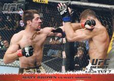 2009 TOPPS UFC ROUND 1 DEBUT  ROOKIE RC MATT BROWN #86