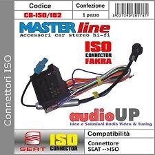 Connettore ISO altoparlanti +alimentazione con connettore antenna ISO SEAT ALTEA