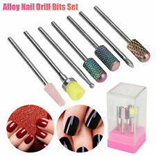 7Pcs Alloy Nail Drill Bits Kit Set Electric File Manicure Pedicure Nail Art Tool
