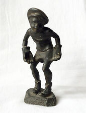 Vintage Russian Soviet bronze statuette football goalkeeper USSR sport