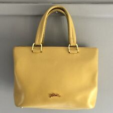 Longchamp Honoré 404 Small Yellow Mimosa Leather Minimalist Tote Bag - Authentic