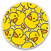 2 x Vinyl Stickers 7.5cm - Yellow Rubber Ducks Duckling Cool Gift #2078