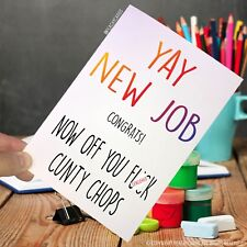 Leaving Card Coworker F*ck Off C*nt Jokes Funny Colleague Promotion Novelty PC79