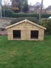 6x3 DOUBLE WOODEN DOG KENNEL TANALISED PRESSURE TREATED 3FT x 6FT