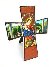Quadro Quadretto Immagine Sacra Ave Maria Forma Di Croce Preghiera moc