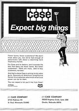 1972 Dealer Print Ad of JI Case Tractor Company Billboard expect big things