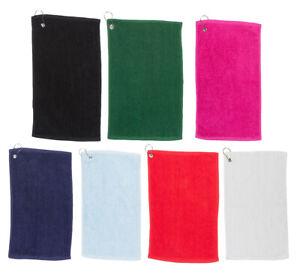 Golf Handtuch Golftuch mit Öse / Karabiner von Towel City