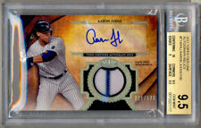 2017 Topps Tier One AARON JUDGE Game Used RC Jersey Auto /100 BGS 9.5/10 YANKEES