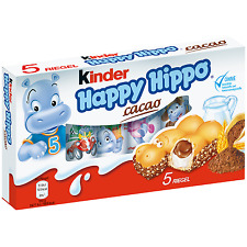 Ferrero Kinder Happy Hippo COCOA ( 5 Hippos ) - Shipping Worldwide -