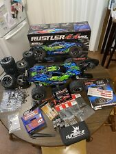 Traxxas Rustler 4X4 VXL TSM, Batteries, Charger, Extra Parts & Tires Very Clean!