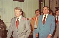 PRESIDENT-ELECT JIMMY CARTER AND VP-ELECT WALTER MONDALE IN PLAINS, GA NOV, 1976