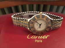 Luxus Uhr MUST HAVE DE CARTIER 21 Goldplated-SS -2 Tone 34 mm m Box  SHP