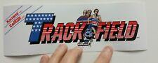 Track & Field arcade marque sticker. 3.25 x 10. (Buy 3 stickers, Get One Free!)