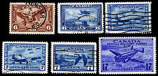 1935-43 Canada Airmail & Airpost Special Delivery - Vf - Cv $6.60 (Esp#2240)