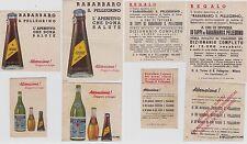 # PUBBLICITARIA: aranciata e rabarbaro S. PELLEGRINO - 4 PICCOLE FIGURINE