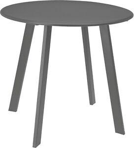 Dark Grey Metal Tea Table Garden Table Outdoor Indoor Table 50cm Indoor Table