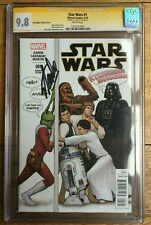 Star Wars #1 J T Christopher Party Variant CGC SS 9.8 Signed by Stan Lee
