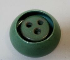 MARBLEHEAD POTTERY ART DECO UNDECORATED MATTE GREEN MINIATURE BOWL & FROG