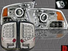 09-12 RAM 1500 2500 3500 CLEAR PROJECTOR HEADLIGHTS CCFL HALO + LED TAIL LIGHTS