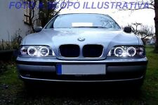 FARI ANGEL EYES A LED CROMO O BLACK BMW SERIE 5 E39 DAL 09/1995- 2002 RESTYLING
