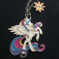 Furreal StarLite Unicorn by Hasbro Necklace with BFF Star Enamel Finish